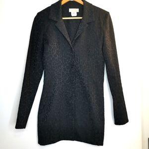 Vintage X:S Clothing black long blazer Size S